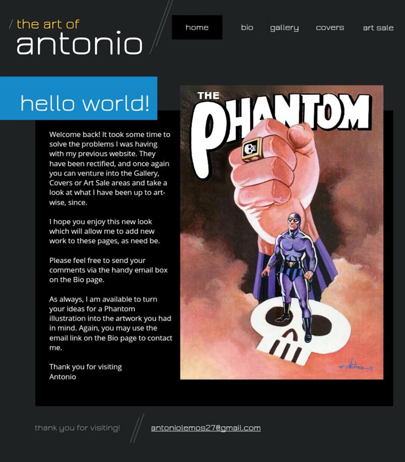 The screenshot accompanying Antonio's message