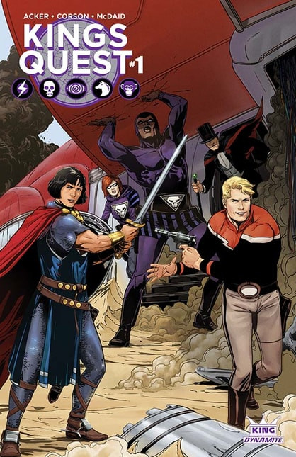 Cover A of Kings Quest #1, by Marc Laming