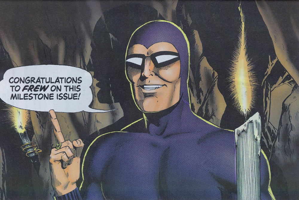 Splash page from interior of comic