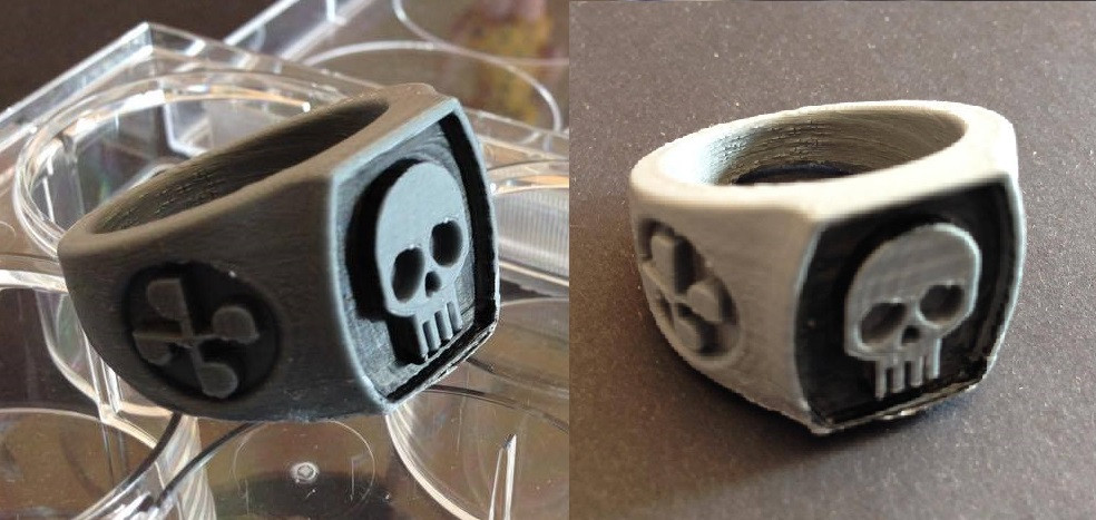 The 3D printed Skull Ring
