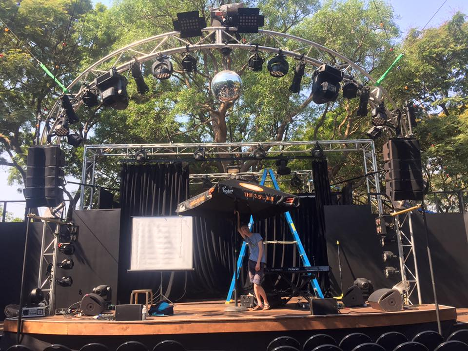 The open-roofed stage in Darwin