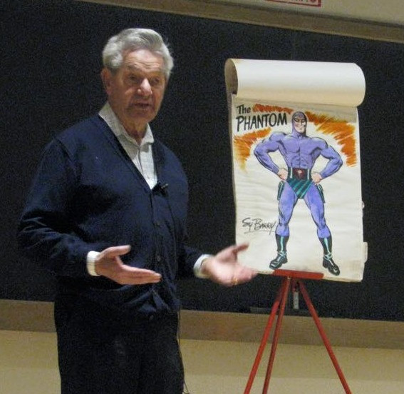 Sy giving a chalk talk in New York in 2015