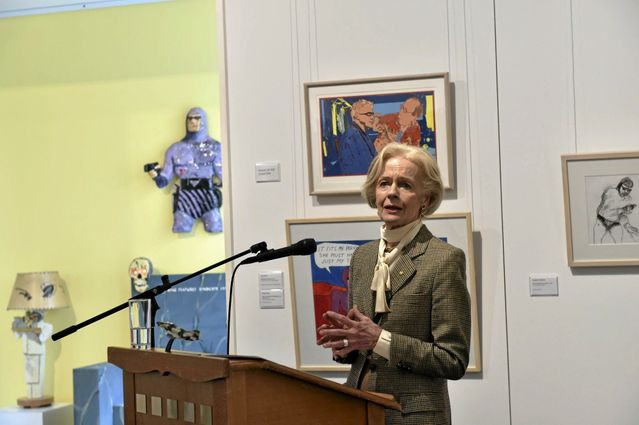 Dame Quentin Bryce speaks at the opening.