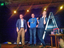 On stage with Duncan and Tim Wilson