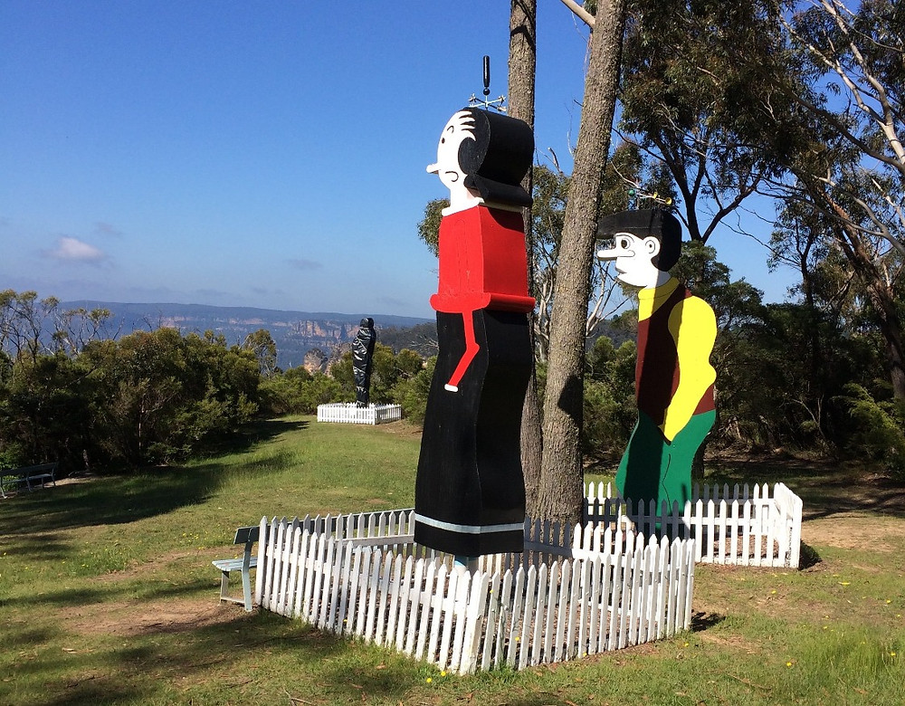 Olive Oyl and Boofhead at Leuralla. Note a covered Phantom in the background.