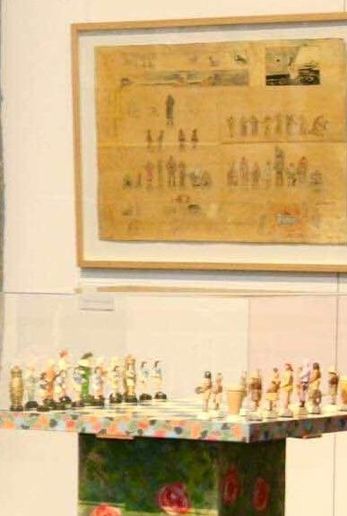 Peter Kingston's Chess Set and planning Parchment