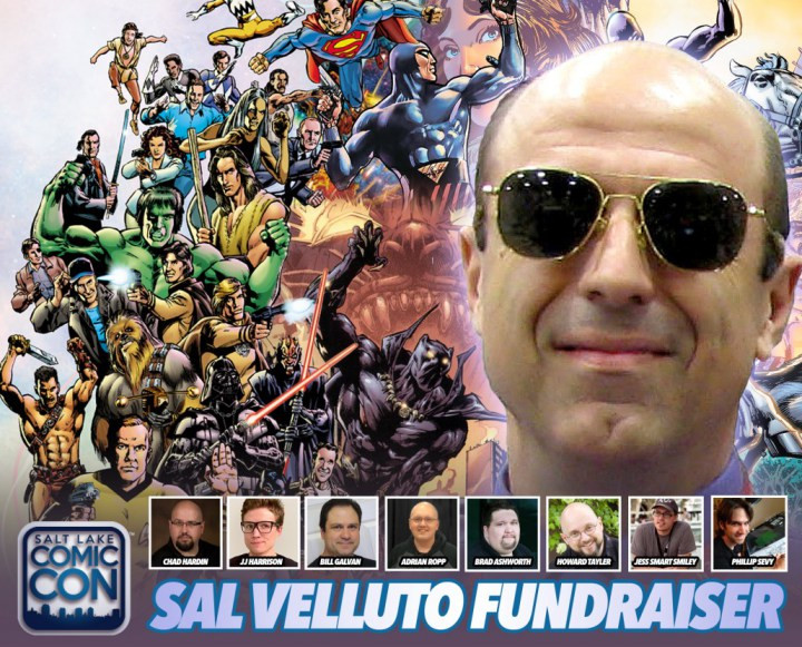 Banner design for Salt Lake Comic Con, Sal Velluto fundraiser