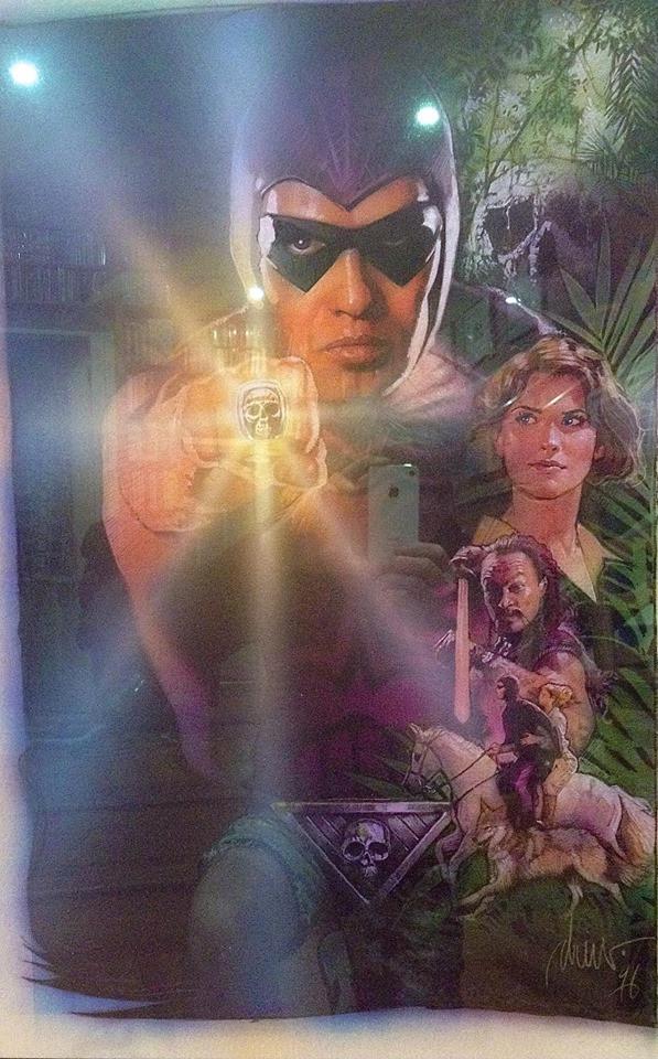 1996 The Phantom film poster, by Drew Struzan