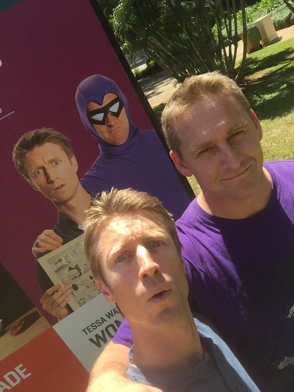 Sammy J and Duncan in Darwin