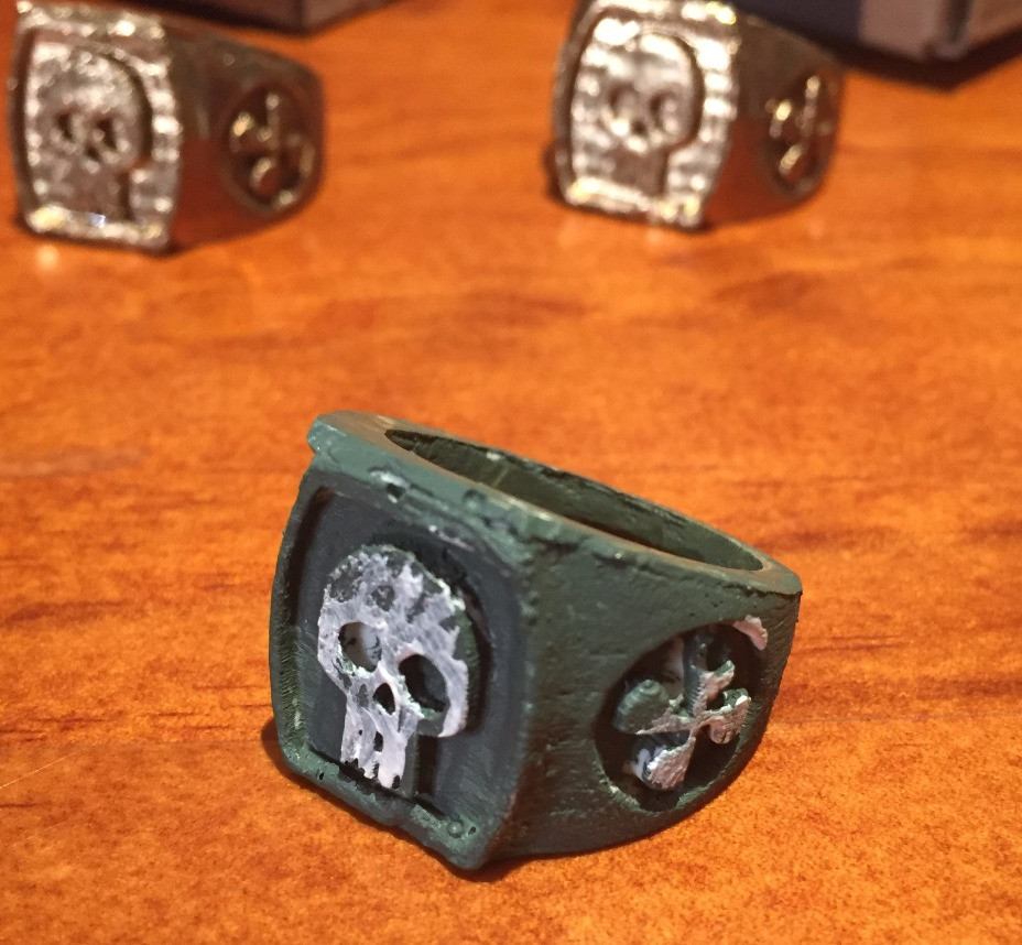 """""""Pirate Gold"""" variant - a green and white prototype"""
