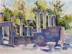 Golan journal 2020- Katzrin ancient synagogue