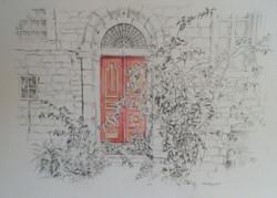 Red door in Talbiyeh