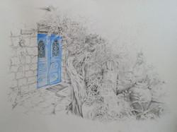 Blue Door on Prophet St.