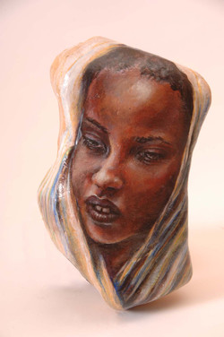Woman in White Scarf I