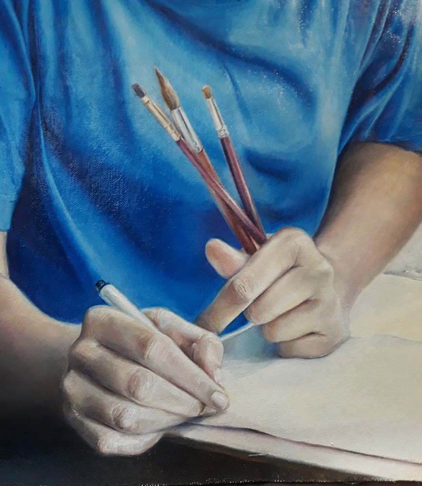 The Art Student (detail)