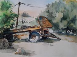 Golan journal 2020- Old wagon