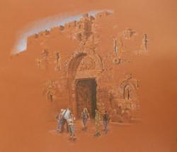 Zion gate at Sunset