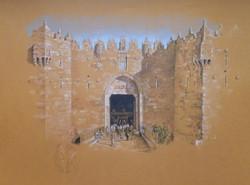 Damascus Gate at Sunset