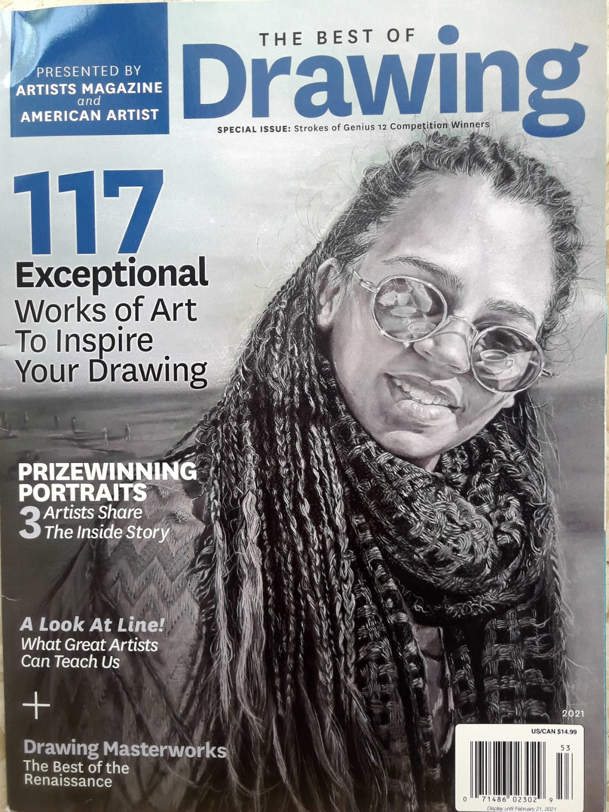 """Coffee with a friend"" on the cover of the Artists Magazine 2020"