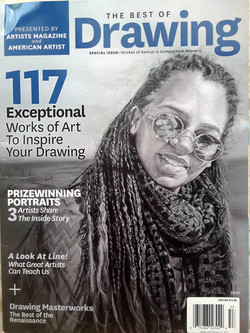"""""""Coffee with a friend"""" on the cover of the Artists Magazine 2020"""