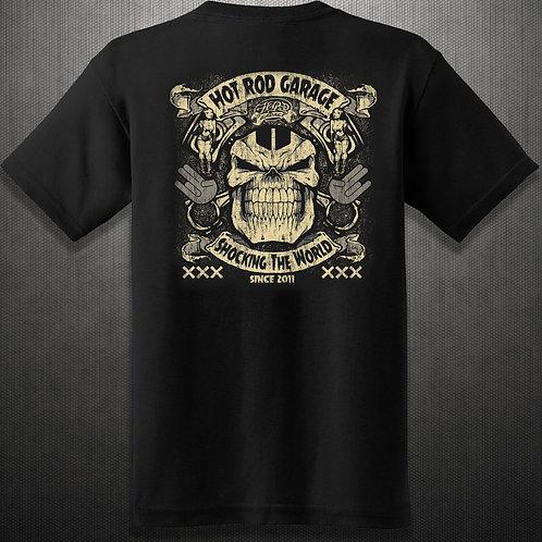 Hot Rod Garage Clothing Company Shocking The World Tee Shirt
