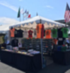 merchandise trailer and tents for rent