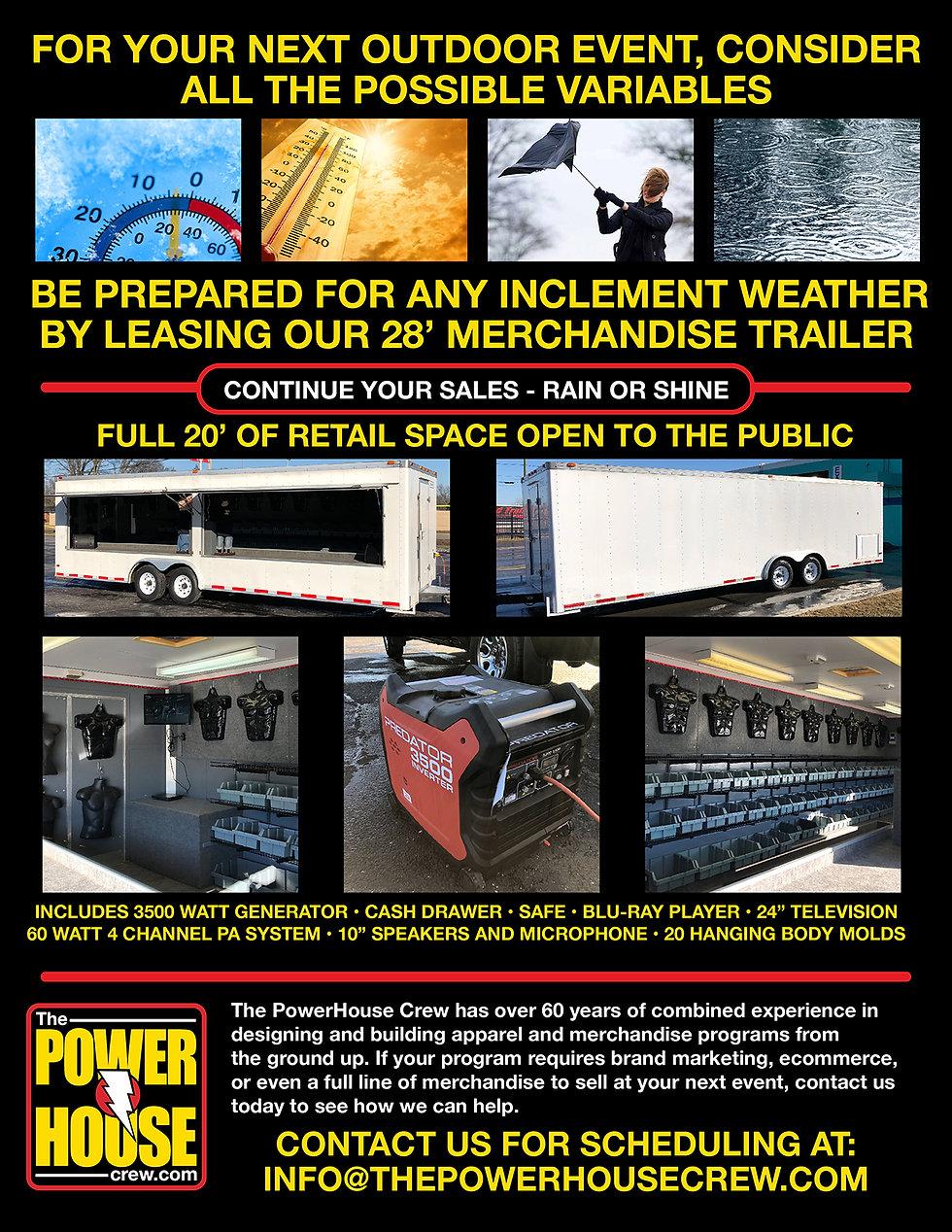 merchandise trailer for rent