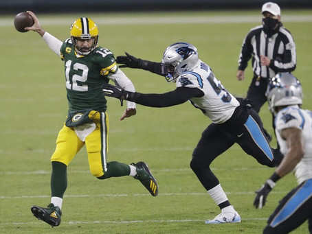 Panthers 16 x 24 Packers: Um time que tem prazer em flertar com a derrota e só joga meio tempo.