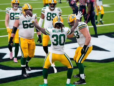 Packers 35x20 Texans: Reabilitação, show de Adams e vitória sem sustos