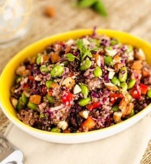 Super Protein Packed Edamame Quinoa Salad