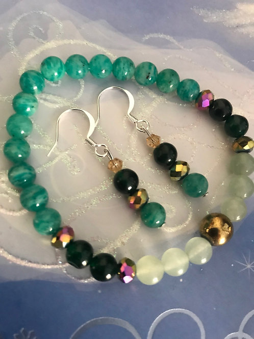 Amazon Goddess Bracelet and Earrings