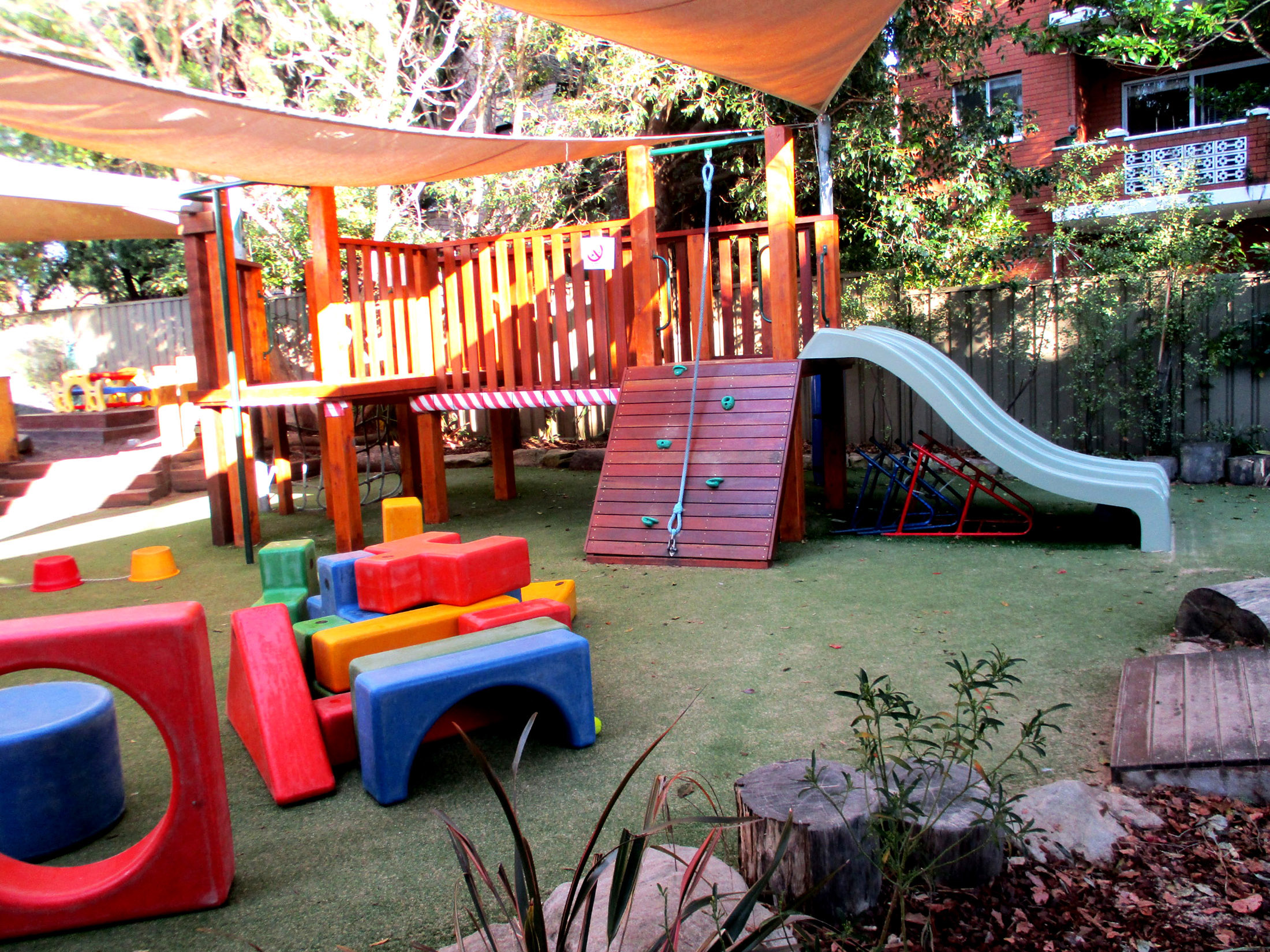 Playground in sun