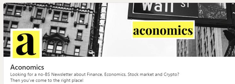 Bauslabs LinkedIn page aconomics newsletter