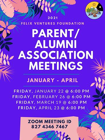 Parent_Alumni Association Meeting Flyer