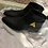 Thumbnail: Giuseppe Zannotti Leather Pyramid Flat Black Bootie