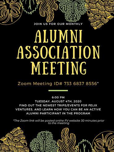 Alumni Association Meeting Flyer - Augus