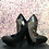 Thumbnail: St Laurent Black Leather Pointy Toe Chained Pumps