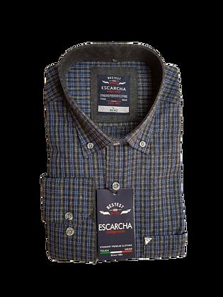 Navy & Brown Check Shirt