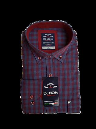 Red & Soft Blue Check Shirt