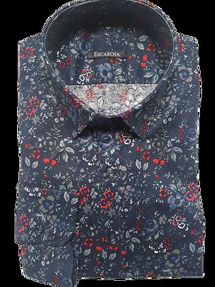 Floral Print Twill Shirt