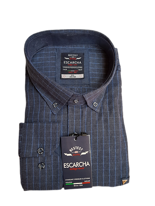Soft Blue Check Navy Shirt
