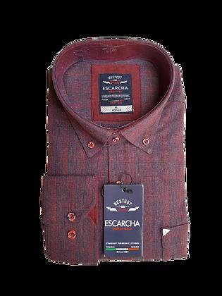 Red Check Burgundy Shirt
