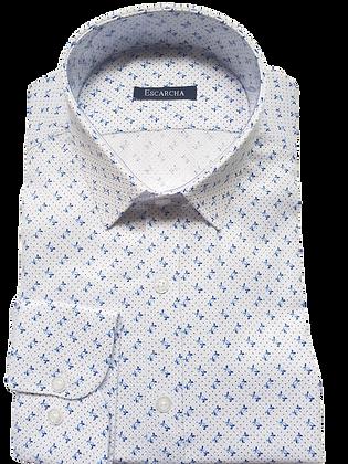 Navy Micro Floral Shirt