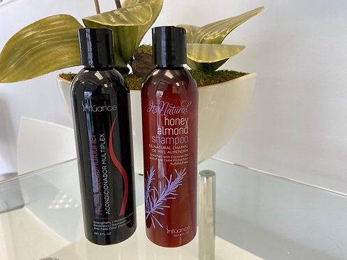 Honey Almond Shampoo and Mulitplex Conditioner Package