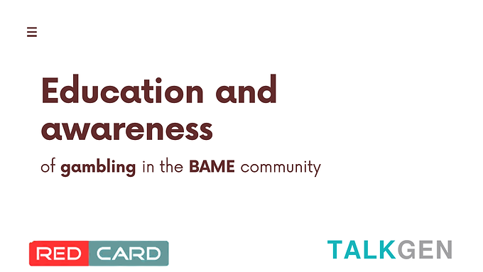 Education and awareness workshop for the BAME community