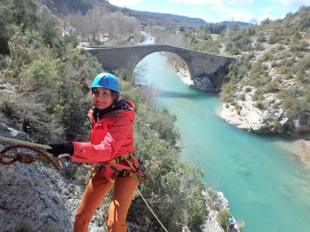 Rápel in Huesca