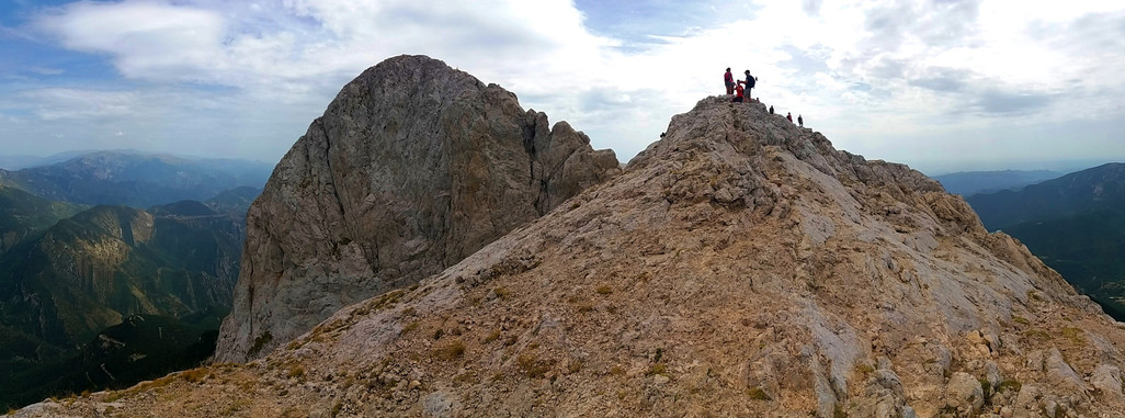 climbing to the summit of pedraforca