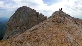 Hiking to the top of pedraforca