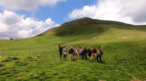 group of hikers at the Taga
