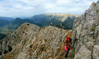 hiking Pedraforca